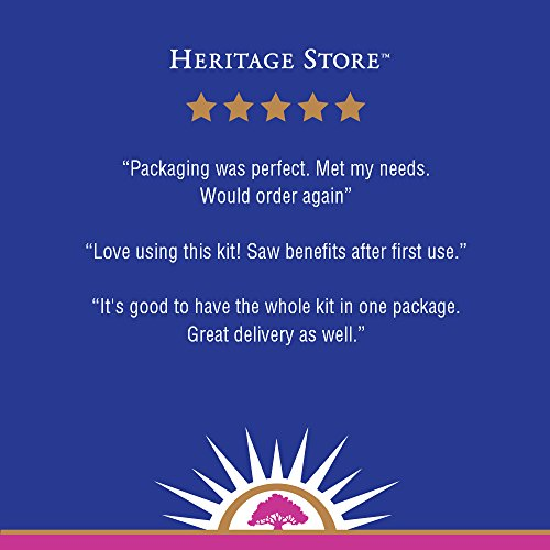 Heritage Store Castor Oil Pack   Natural & Unbleached, Sewn in USA   Cold Pressed, Hexane & Fragrance Free   Oil, Wool & Towelettes   16 oz by Heritage Store (Image #5)