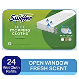 Swiffer Sweeper Wet Mopping Cloths, Open-Window Fresh, 24 count