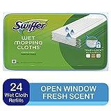 Swiffer Sweeper Wet Mopping Cloths, Open-Window Fresh, 24 count