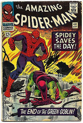 STAN LEE HAND SIGNED SPIDERMAN #40 COMIC BOOK PSA/DNA GRADED GEM MINT 10! V07897