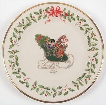 Lenix Christmas Plates 2020 Amazon.com: Lenox China Holiday Annual Christmas Plate No Box