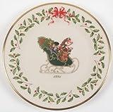 Lenox China Holiday Annual Christmas Plate No Box, Collectible - 74026