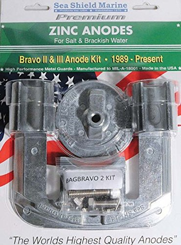 Mercruiser Bravo 2 & 3 Anode Kit - Zinc (1989-2003-B3) (1989-Present-B2)