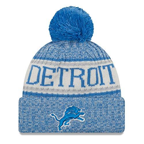 New Era Detroit Lions 2018 NFL Sideline On Field Sport Knit Hat - Blue