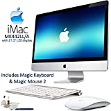 Apple iMac MK442LL/A 21.5'' LED Display Desktop Computer Starters Bundle: Includes Apple Magic Keyboard (MLA22LL/A) & Magic Mouse 2 (MLA02LL/A) and more...