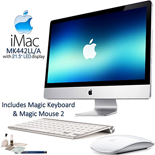 "Price comparison product image Apple iMac MK442LL / A 21.5"" LED Display Desktop Computer Starters Bundle: Includes Apple Magic Keyboard (MLA22LL / A) & Magic Mouse 2 (MLA02LL / A) and more."