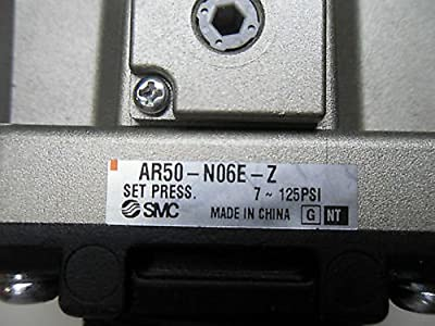 "SMC AR50-N06E-Z Regulator, Relieving Type, 7.25 - 123 psi Set Pressure Range, 353 scfm, Square Embedded Gauge, 3/4"" NPT"