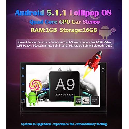 EinCar 7 inch Android 5 1 1 Quad Core Lollipop Car Stereo