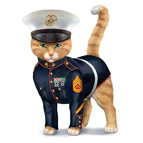 - The Hamilton Collection Sem-Purr Fidelis US Marine Corps Cat Figurine