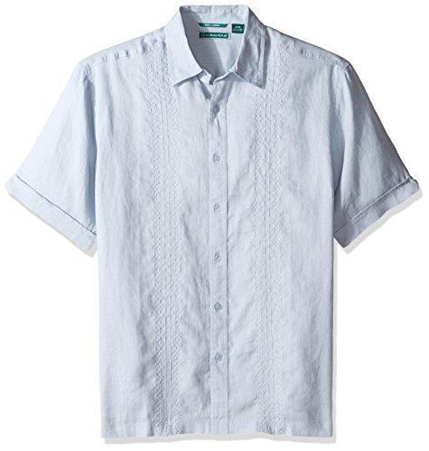 Cubavera Men's Short-Sleeve 100% Linen Embroidered Woven ...