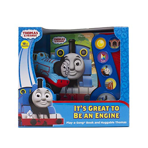 Thomas & Friends - It's Great to be an Engine Play-a-Song Book and Huggable Thomas Plush - PI Kids