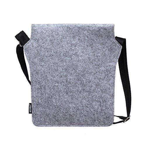 2087 Donna Borsa a Spalla Manica Custodia Grigio e Rosso per iPad Tablet PC PDA