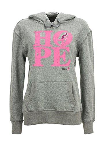 Susan G Komen Women's Hope Running Ribbon Hoodie Sweatshirt. Pink KOMELS0015 (S)
