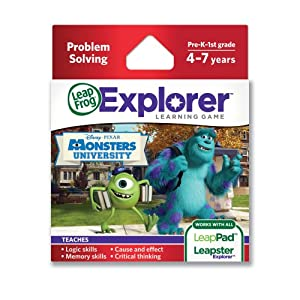 LeapFrog Disney Pixar Monsters University Learning Game (works with LeapPad Tablets, LeapsterGS, and Leapster Explorer) by Leapfrog