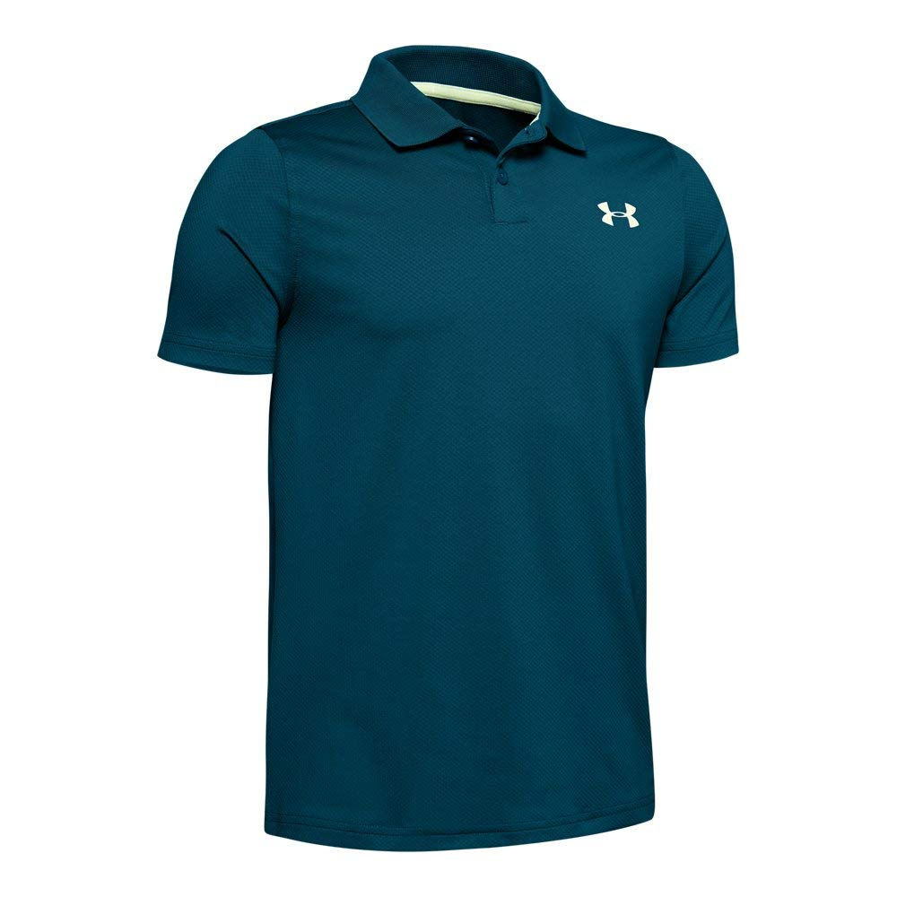 Under Armour Boys' Performance Polo 2.0, Teal Vibe//Phosphor Green, Youth Small by Under Armour