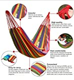 HAMMOCK-HAMMOCK LOUNGE-HANGING HAMMOCK-THE COMFIEST, DOUBLE COZY, BRAZILIAN NEST HAMMOCK-INCLUDES TREE STRAPS-FOR INDOOR, OUTDOOR, TRAVEL, CAMPING AND MORE-DURABLE SOFT COTTON-INCLUDES STORAGE BAG
