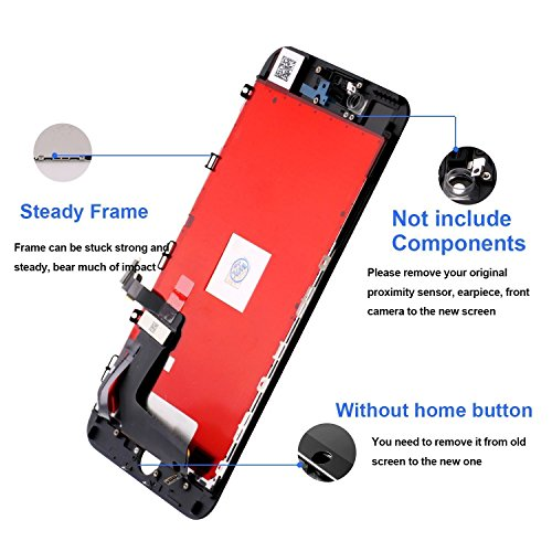 Replacement Screen for iPhone 7 Black LCD Display Touch Digitizer Screen Full Assembly with Repair Tool Kit and Screen Protector by i DIY (Image #2)