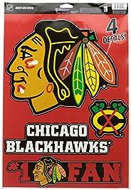 Wincraft NHL Chicago Blackhawks WCR52102014 Multi-Use Decal, 11-Inch by 17-Inch