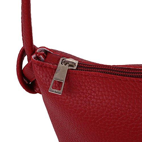 pièces main wlgreatsp à messager cuir bandoulière de Vin sac Vin Sac tout 3 à faux beauty Fourre Sac Rouge qPxppw1t5