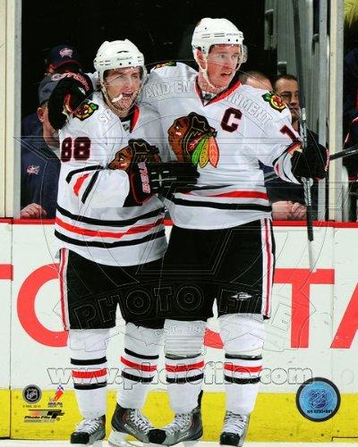 NHL Patrick Kane Jonathan Toews Chicago Blackhawks Action Photo 8x10#2