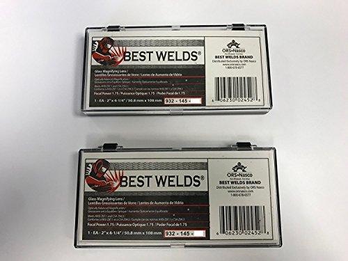 2 EACH Welding helmet magnifier/cheater lens, 2 x 4.25, 3.00 diopter, GLASS ()