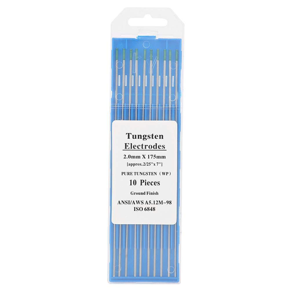 """10pcs Pure Tungsten Electrodes WP 1.0*175mm 0.04/""""*7/"""" For TIG Welding Magnesium"""
