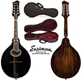 Eastman MD404 A-Style Oval Hole Black-Top Mandolin with Hard Case