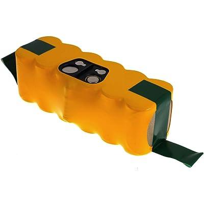 batterie compatible pour iRobot Roomba 653, NiMH, 3300mAh, 14,4V, 47Wh, jaune