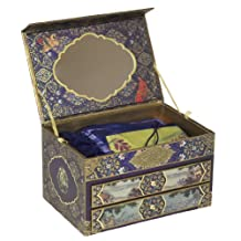 Dove of the East Russia Journey Treasure Box with Seasonal Berries Collection of Blank Greetings Cards and Matching Envelopes for Scrapbooking