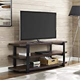 Ameriwood HOME Castling Curved TV Stand in Espresso and Black
