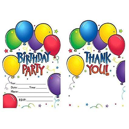Amazon Balloon Fun Birthday Party Invitations And Thank You