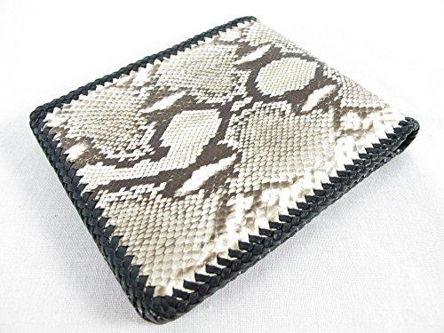 PELGIO Genuine Python Snake Skin Leather Bifold Handmade Wallet (Reticulated Python) ()