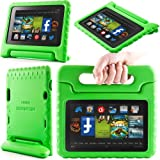 i-Blason ArmorBox Kido Series for All New Kindle Fire HD 7 Inch Tablet Light Weight Super Protection Convertiable Stand Cover Case Kids Friendly (Green)