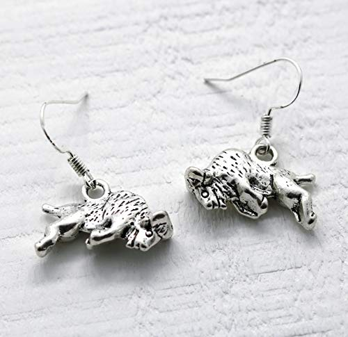 Bison Hook - Buffalo Earrings for Women - 925 Sterling Silver Hooks - Bison Earrings - Buffalo Jewelry - Bison Gifts for Her - Fast Shipping