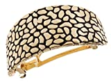 L. Erickson Pebbled Metal Ponytail Barrette - Gold