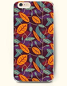 iPhone 6 Plus Case 5.5 Inches Blue Orange Leaf - Hard Back Plastic Case OOFIT Authentic by runtopwell