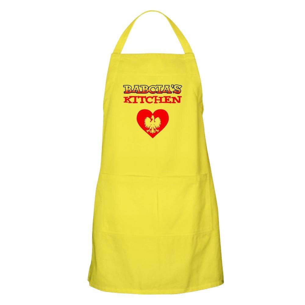CafePress – Babciaキッチン – キッチンエプロンポケット付き、グリルエプロン、Bakingエプロン イエロー 043723234929A30  レモン B073WSPSY8