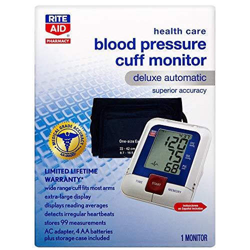 Rite Aid Deluxe Automatic Blood Pressure Cuff | Digital Blood Pressure Monitor