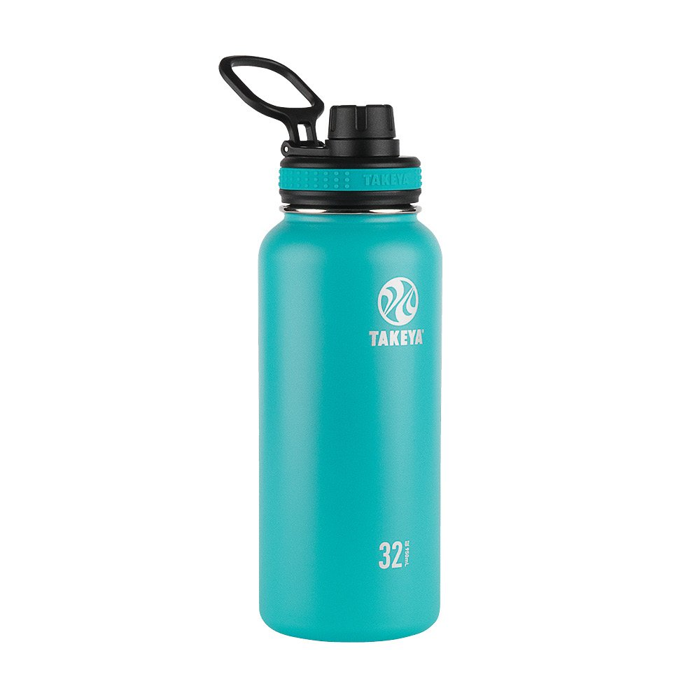 Takeya ThermoFlask Insulated Stainless Steel Water Bottle, 32 oz, Ocean by Takeya