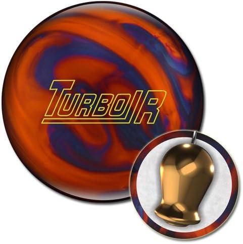 Ebonite Turbo R Bowling Ball, Orange Blue Pearl, 12 lb
