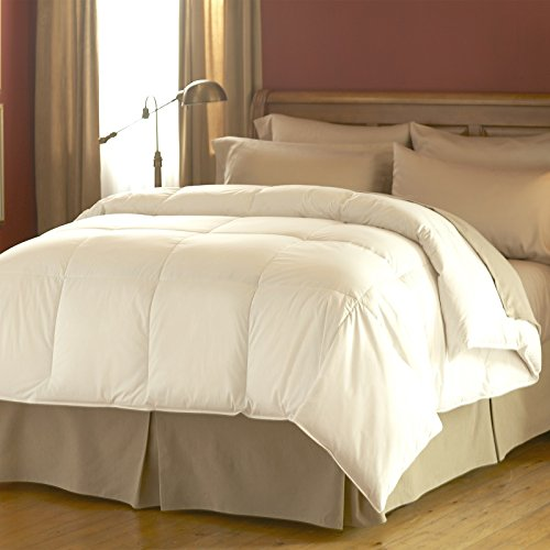 Spring Air 66180 Hypoallergenic Cotton Cover Dream Form Microgel Down Alternative Comforter/Duvet Insert, King/104