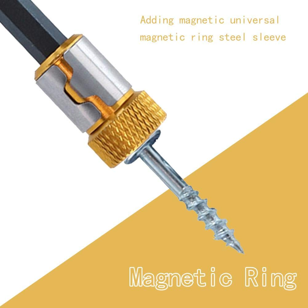 Magnetized Screwdriver Screw Pick Up Tools 1//4 6.35mm Electric Screwdriver Bits Accessories Screwdriver Magnetic Ring Strong Magnetizer
