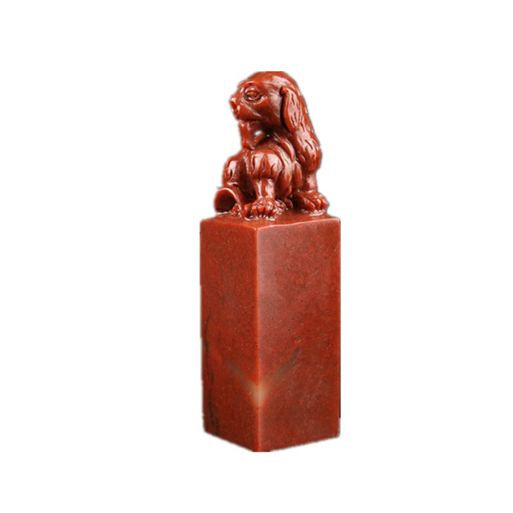 Custom Chinese Seal Chinese Zodiac Dog Seal Chinese Name Stamp Carving Chinese Stamping Seal for Calligraphy (3CM) (Dog)