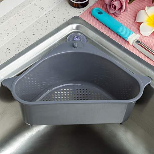 Sink Drainer Basket Storage Holder Drain Shelf Sucker Kitchen Rack Organizer