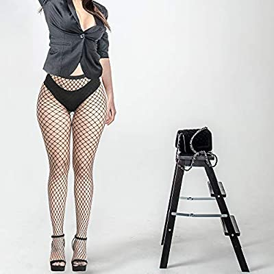 FEPITO 8 Pairs Fishnets Stockings Mesh Thigh High Pantyhose High Waist Fishnet Tights for Women (8 Colors) at Women's Clothing store