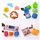 Astra shop Adorable Food Deco Stamp Kit (10 Piece) /Cartoon Animals Sushi Rice Cutter Mold /Fish and Car Shape Egg plate Egg Mold / Bear Sandwich Maker - Best Kitchen DIY Tools for Kids