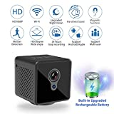 Mini Spy Camera WiFi, Relohas 1080P Spy Hidden Camera Upgraded Night Vision Spy Cam, Portable Nanny Camera with Motion Detection for Home/Office Security and Outdoor (with Cell Phone App)