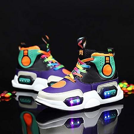 MOCA Niña y Niño LED Zapatos para Correr, Luz Luminosas Flash 7 Colors USB Carga, Zapatillas de Deporte para Hombres Mujeres(tamaño 28-37): Amazon.es: Hogar