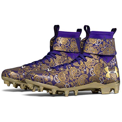 Image of Under Armour C1N MC Football Cleats (Purple/Metallic Gold, 9 D(M) US)