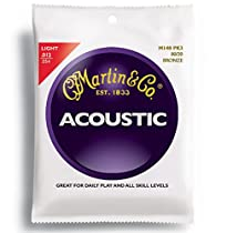 Martin M140 80/20 Acoustic Guitar Strings, Light  3 Pack